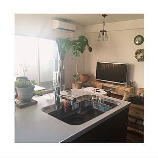 キッチン/紫陽花/カフェ風/日々の暮らし/観葉植物...などのインテリア実例 - 2016-10-23 21:32:17