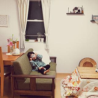 女性家族暮らし2LDK、こたつに関するtokimaさんの実例写真