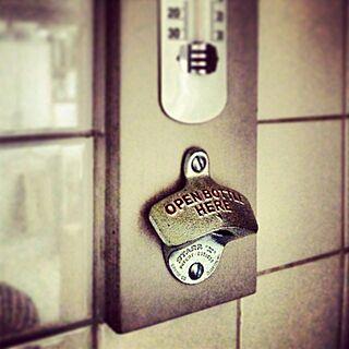 イギリス雑貨/栓抜き/温度計のインテリア実例 - 2013-05-06 17:28:56