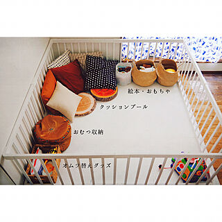 女性家族暮らし3K、おもちゃ、ぬいぐるみ収納に関するchiyo0520さんの実例写真