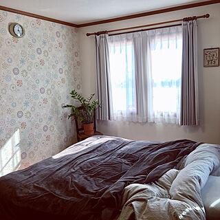 女性49歳の家族暮らし、マスターベッドルームに関するmisacoさんの実例写真