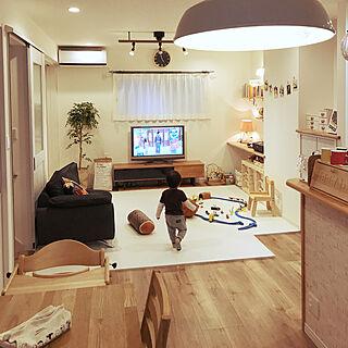 リビング/子供のいる暮らし/IKEA収納/ペーパーバッグ/観葉植物/ナチュラル...などのインテリア実例 - 2017-10-20 17:09:39