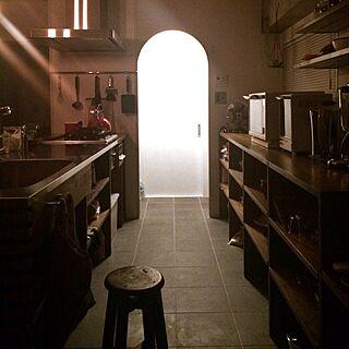 キッチン/丸椅子/タイルのインテリア実例 - 2013-12-11 21:42:28