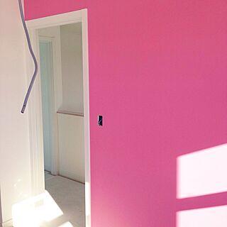ベッド周り/ピンク♡ピンク♡ピンク/新築中/カラフルがやっぱり好き。/新築建設中...などのインテリア実例 - 2015-01-10 18:39:28