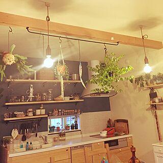 キッチン/minneで販売中/ハンドメイド/照明/多肉植物...などのインテリア実例 - 2016-06-16 18:45:40