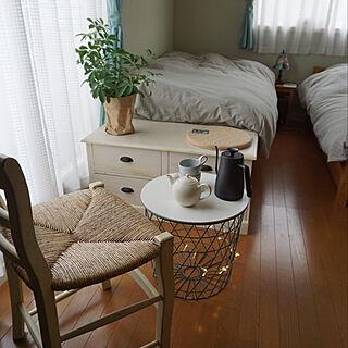 女性家族暮らし3LDK、Bedroom DIYベッドに関するwankonoirukurashiさんの実例写真