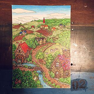 男性38歳の家族暮らし、塗り絵に関する02_reijiさんの実例写真