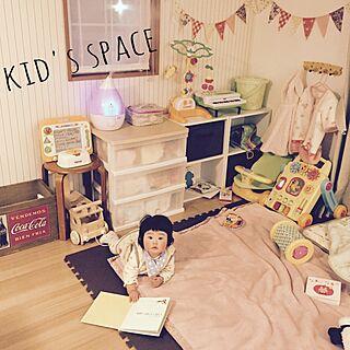 女性31歳の家族暮らし3LDK、こどもエリアに関するnekomusumeさんの実例写真