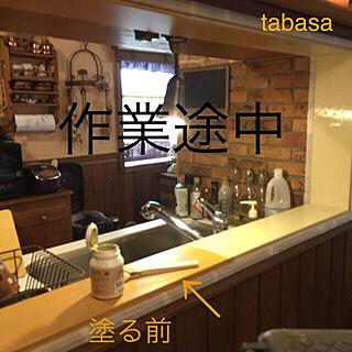 女性48歳の家族暮らし4LDK、ミルクペイントに関するtabasaさんの実例写真