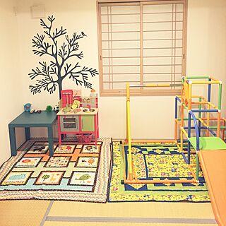 男性34歳の家族暮らし4LDK、こどもの遊び場に関するinocchiさんの実例写真