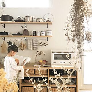 女性35歳の家族暮らし3LDK、キッチン雑貨に関するEmiさんの実例写真