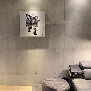 女性同棲2LDK、コンクリート打ちっ放しに関するnao-mikaさんの実例写真