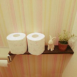 女性の、2DK、家族住まいの「バス/トイレ」についてのインテリア実例