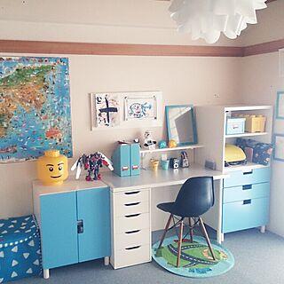 子供部屋男の子/IKEA/小学生男子の部屋/子供部屋/子供部屋 ...などのインテリア実例 - 2015-06-19 01:27:59