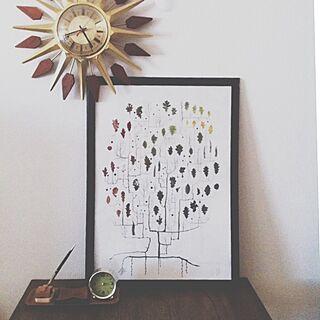 壁/天井/fine little day/IKEA/ポスター/サンバーストクロックのインテリア実例 - 2014-06-14 00:04:07