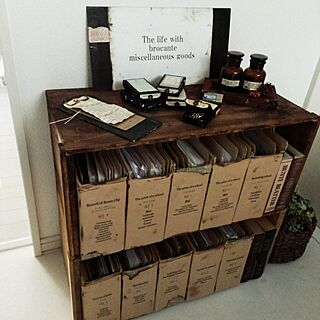 女性家族暮らし、紙箱に関するchocolate-cafeさんの実例写真