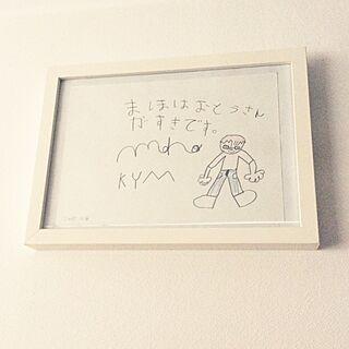ベッド周り/娘の絵♥のインテリア実例 - 2015-01-29 10:01:12