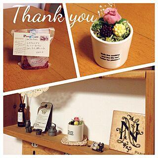 棚/RCの出会いに感謝/ステキ便♪/tkmsさんミニアレンジ♡のインテリア実例 - 2014-04-19 18:34:55