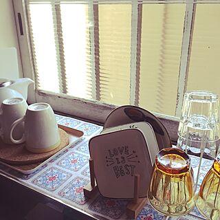 キッチン/手書き/らくやきマーカー/お揃い/白×茶色...などのインテリア実例 - 2015-05-02 13:00:06