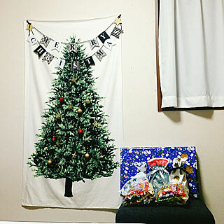 女性29歳の家族暮らし3DK、我が家のクリスマスに関する__mana__さんの実例写真