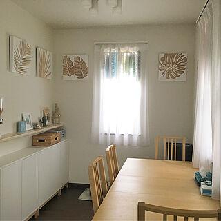 女性同棲4LDK、テーブル下収納に関するMasakoさんの実例写真
