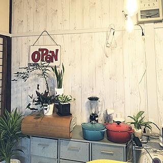 キッチン/料理教室/観葉植物/DIY/アンティーク...などのインテリア実例 - 2018-06-16 15:05:46