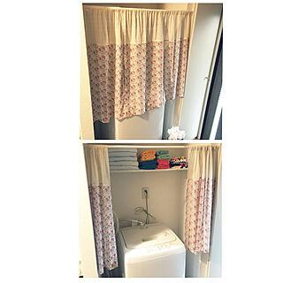 棚/タオル置き場/つっぱり棒/目隠し/洗濯機...などのインテリア実例 - 2017-12-30 17:32:03