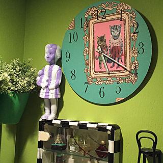 女性家族暮らし3LDK、IKEA 目覚まし時計 リメイクに関するokyame-chanさんの実例写真