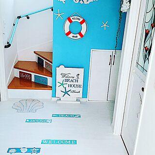 女性家族暮らし4LDK、手作りウエルカムボードに関するMegumiさんの実例写真