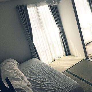 29歳の一人暮らし2DK、無印の枕カバー 無印のシーツに関するtakenokoさんの実例写真