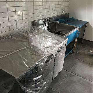 キッチン/壁付け水栓/オールステンレス/ホシザキ/コールドテーブル...などのインテリア実例 - 2017-10-28 15:53:37