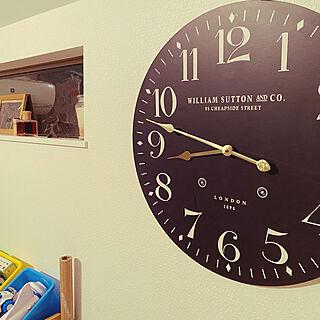 お部屋のアクセントに/お気に入り♡/でかい/時計のある風景/リビングのインテリア実例 - 2020-10-11 22:45:19