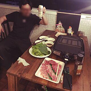 IKEA/外焼肉/ウッドデッキ/ベランダ/生活感丸出し...などのインテリア実例 - 2017-05-09 13:10:30