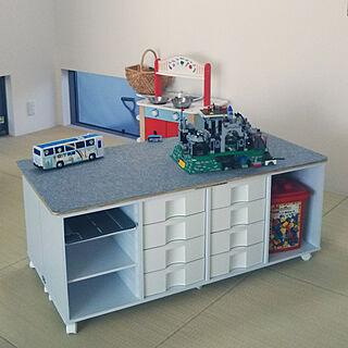 机/レゴ/レゴ収納/レゴ棚/プレイテーブル...などのインテリア実例 - 2017-12-12 09:47:33