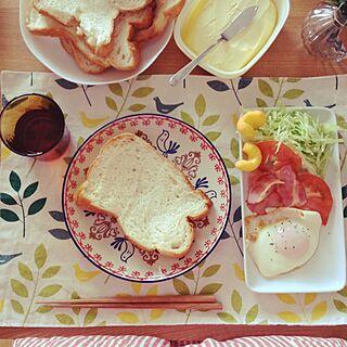 女性34歳の家族暮らし2LDK、朝食セットに関するkiryoさんの実例写真