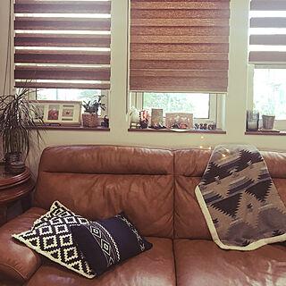 ハンドメイドのお雛様/窓辺のインテリア/しまむらのブランケット/ニトリのクッションカバー/調光ロールスクリーン/ニトリのソファー...などのインテリア実例 - 2019-03-22 08:39:33