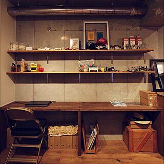 机/ごちゃごちゃ/オープン棚/フォールディングチェア/CLARIN...などのインテリア実例 - 2015-10-27 14:52:24