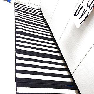 キッチン/モノトーン/白黒/しましま/100均...などのインテリア実例 - 2013-10-07 19:03:34
