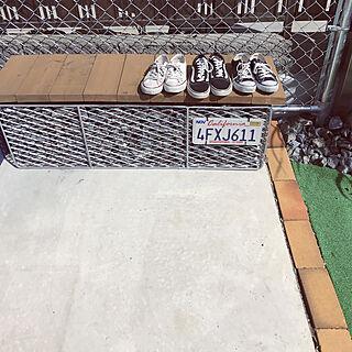 玄関/入り口/いいね♪いつもありがとうございます❤️/アメリカンフェンス/カリフォルニアフェンス/お庭...などのインテリア実例 - 2018-03-23 13:56:48