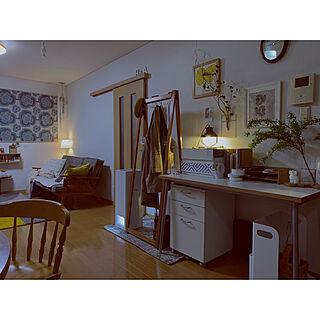 書類収納/デスクワゴン/無印の木製収納スタンド/こでまり/収納...などのインテリア実例 - 2021-03-05 23:11:54