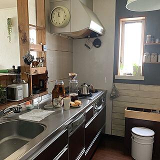 アイスコーヒー仕込み中/アイスコーヒー淹れました/セルフリフォーム/キッチンのインテリア実例 - 2019-09-03 12:23:02