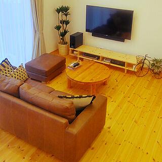 女性家族暮らし3LDK、壁付けTVに関するmai035さんの実例写真