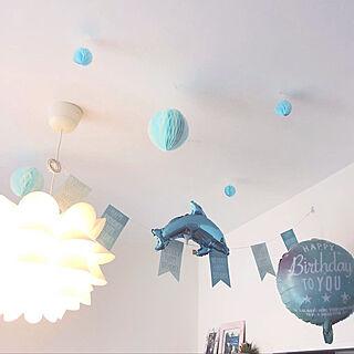 誕生日飾り付け/誕生日/娘/IKEA 照明/IKEA...などのインテリア実例 - 2019-05-03 01:16:35