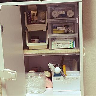 女性28歳の家族暮らし4LDK、セリア 3マスボックスに関するshiori815さんの実例写真