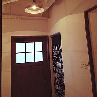 玄関/入り口/男前/バスロールサイン?/手作りのインテリア実例 - 2014-07-13 07:47:20