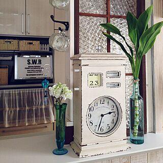 キッチン/窓枠 DIY/ガラス花瓶/キッチンカウンターの上/風鈴ピック...などのインテリア実例 - 2015-06-24 14:56:52