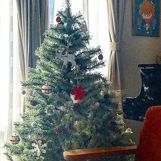 リビング/ピアノがある部屋/ソファー/クリスマスツリー/クリスマス...などのインテリア実例 - 2018-12-19 10:14:50