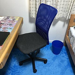 おはようございます☺︎/IKEAのゴミ箱/ブルー好きな息子/新しい椅子に✨/次男坊の部屋...などのインテリア実例 - 2019-09-24 08:54:51