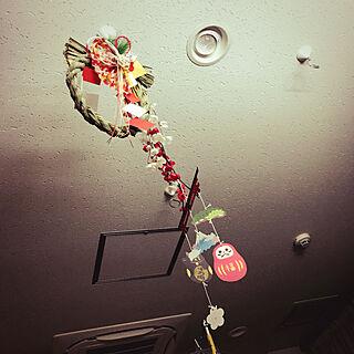 ベッド周り/天井にしめ飾り/プレゼント企画開催/病室にて/RCの出会いに感謝♡...などのインテリア実例 - 2017-12-30 20:08:48