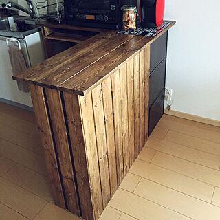 キッチンカウンターDIYの人気の写真(RoomNo.1552946)